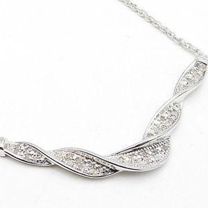 .40 ctw genuine diamond necklace silver